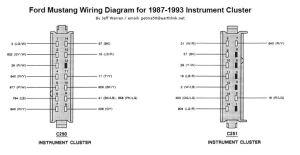 8793 Mustang Instrument Cluster Diagram