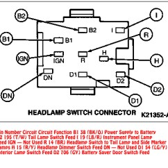 2005 Jeep Wrangler Fuse Box Diagram 2009 Jetta Wiring 94-95 Mustang Headlight Switch Connector