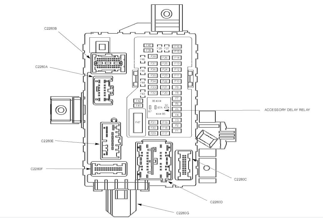 2013 mustang fuse diagram