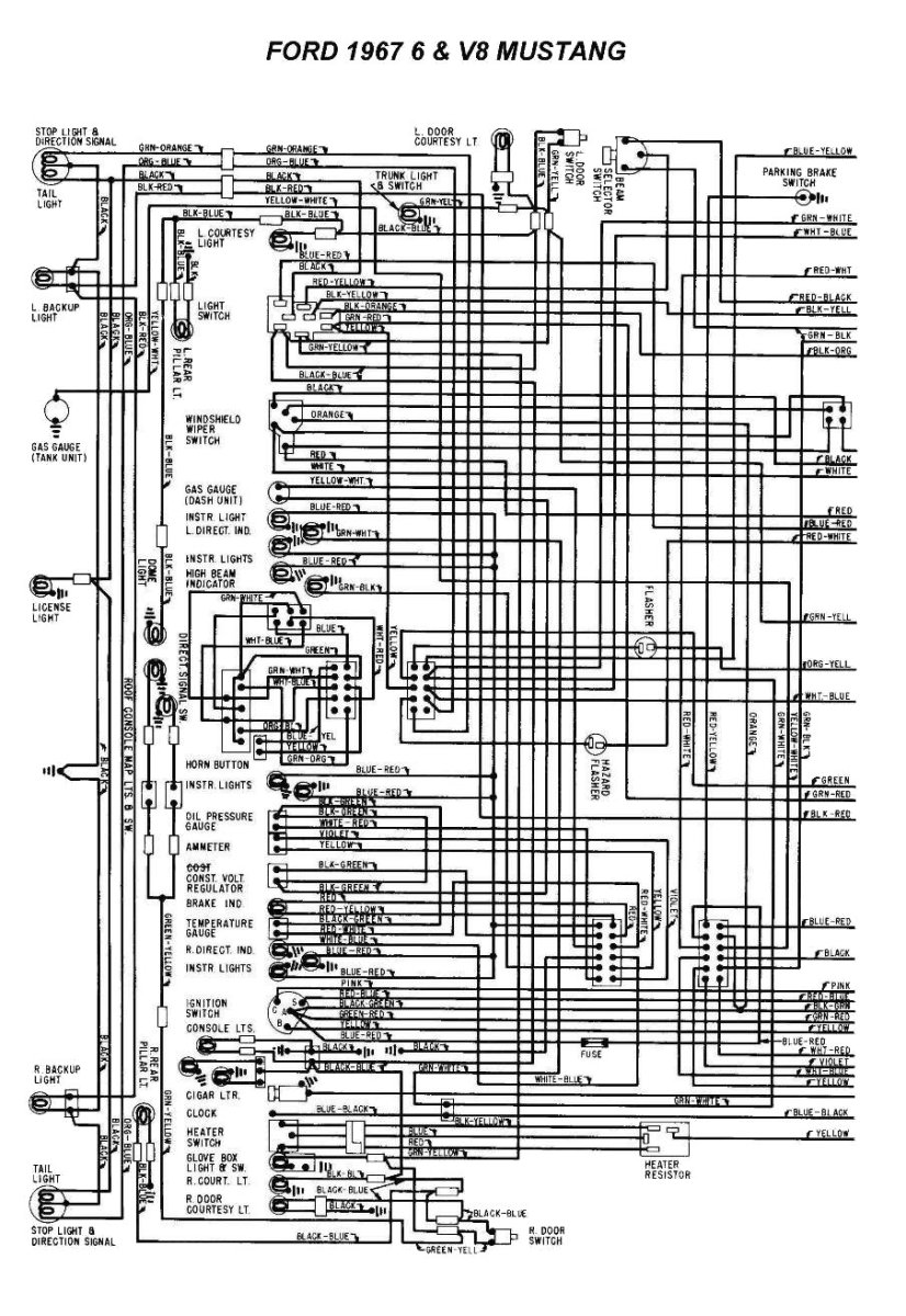 1967 Mustang Fuse Box Wiring Diagram