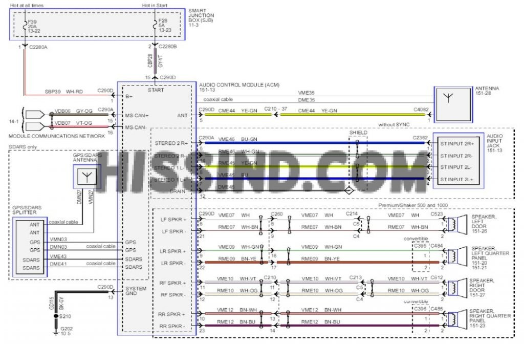 2013 ford mustang factory radio wiring harness