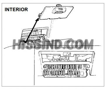 1997 honda del sol fuse panel location interior