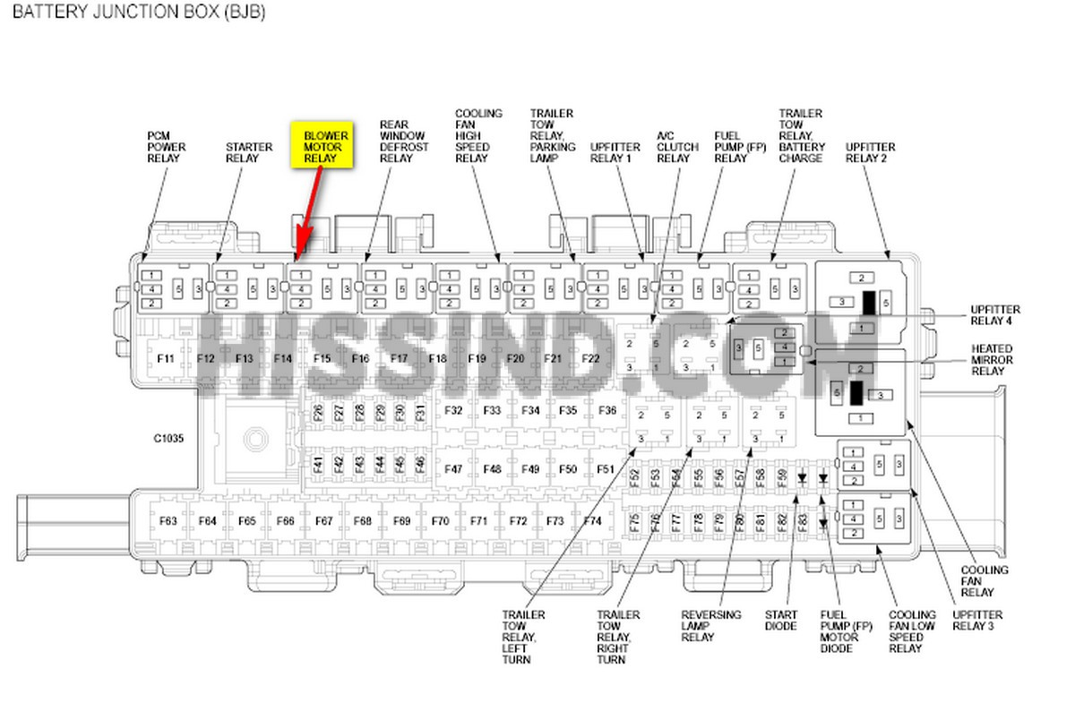2012 f150 fuse diagram layout identification rh diagrams hissind com 2012 Ford Fuse Box Diagram 2012 F-150 Trailer Light Fuse Location