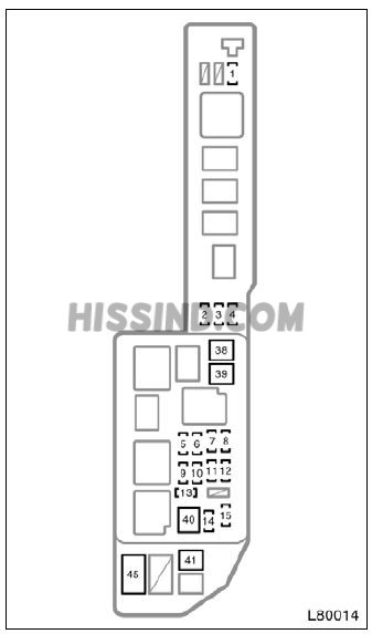 1998 Toyota Camry Fuse Box Diagram, Location, Description