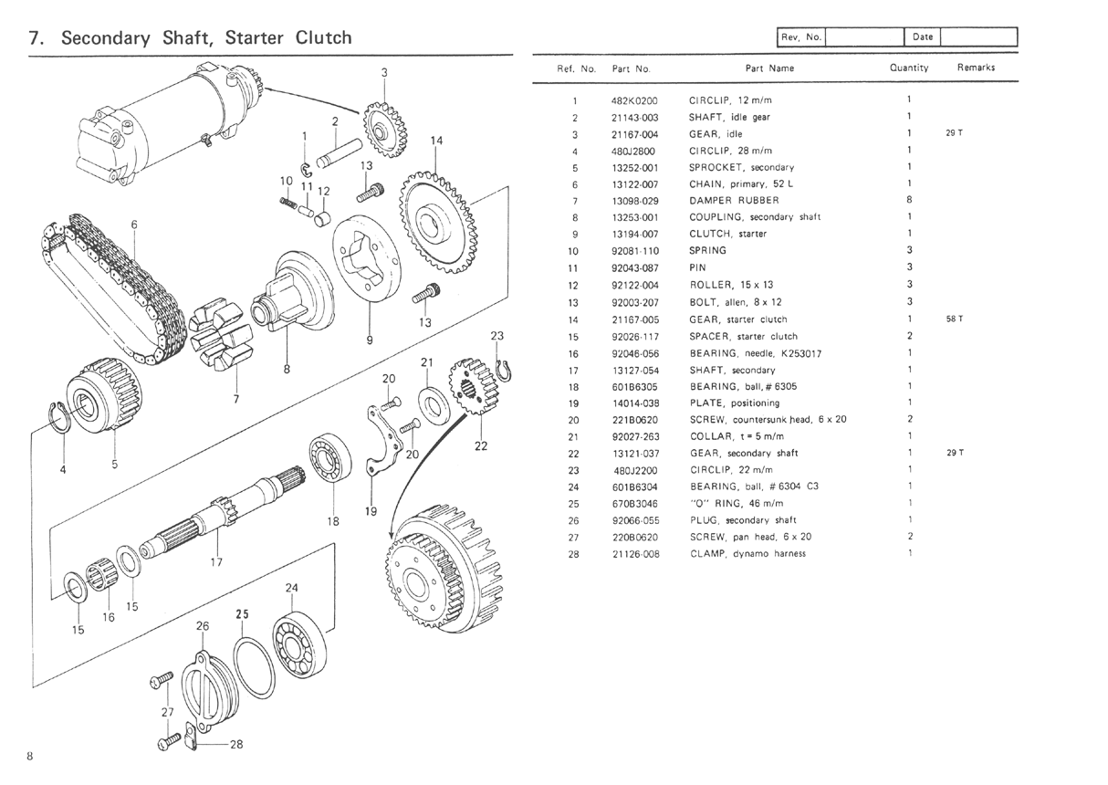 hight resolution of kz650 motor diagram wiring diagram detailed clutch system diagram kz650 clutch diagram