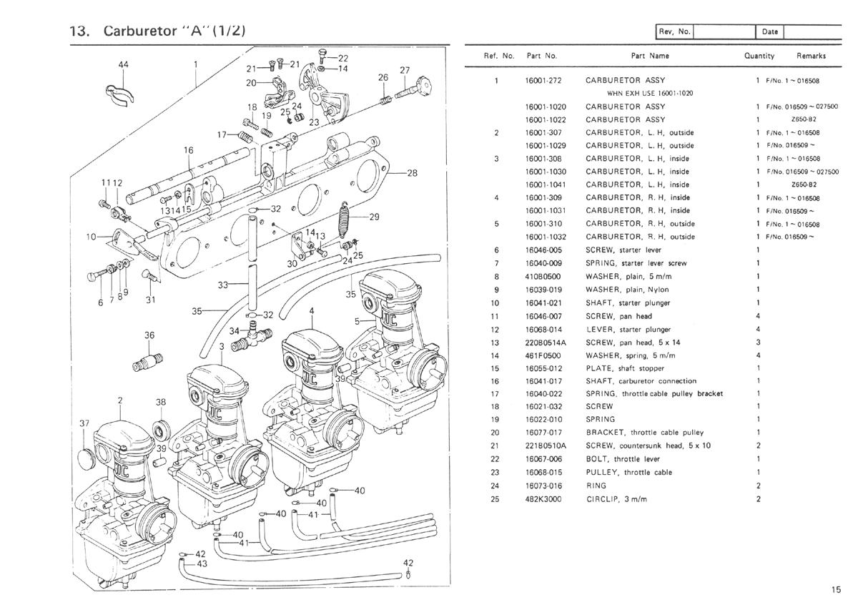 Kawasaki Kz650 B B1 B2 B2a B3 Motorcycle Parts
