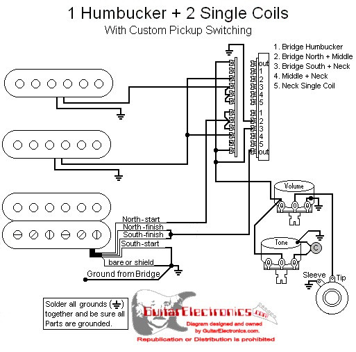 1 Vol 1 Tone 5 Way Hss Active Wiring Diagram