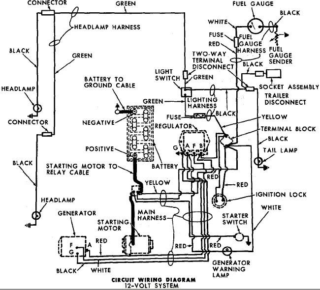 1964 Ford 4000 Tractor Wiring Diagram
