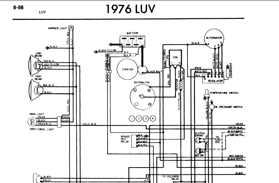1975 Chevy Luv Wiring Diagram