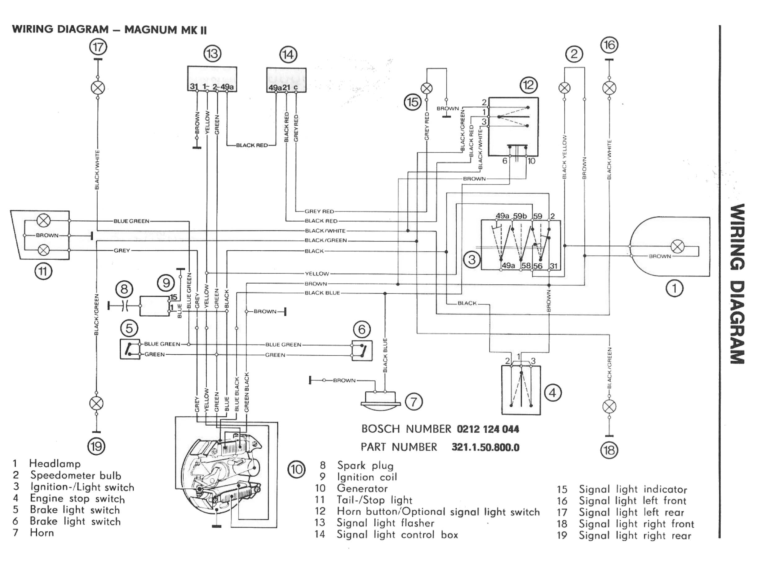 1980 Tpg-805 Scooter Wiring Diagram