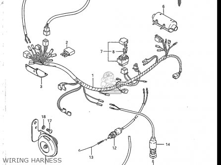 1983 Suzuki Sp125 Wiring Diagram