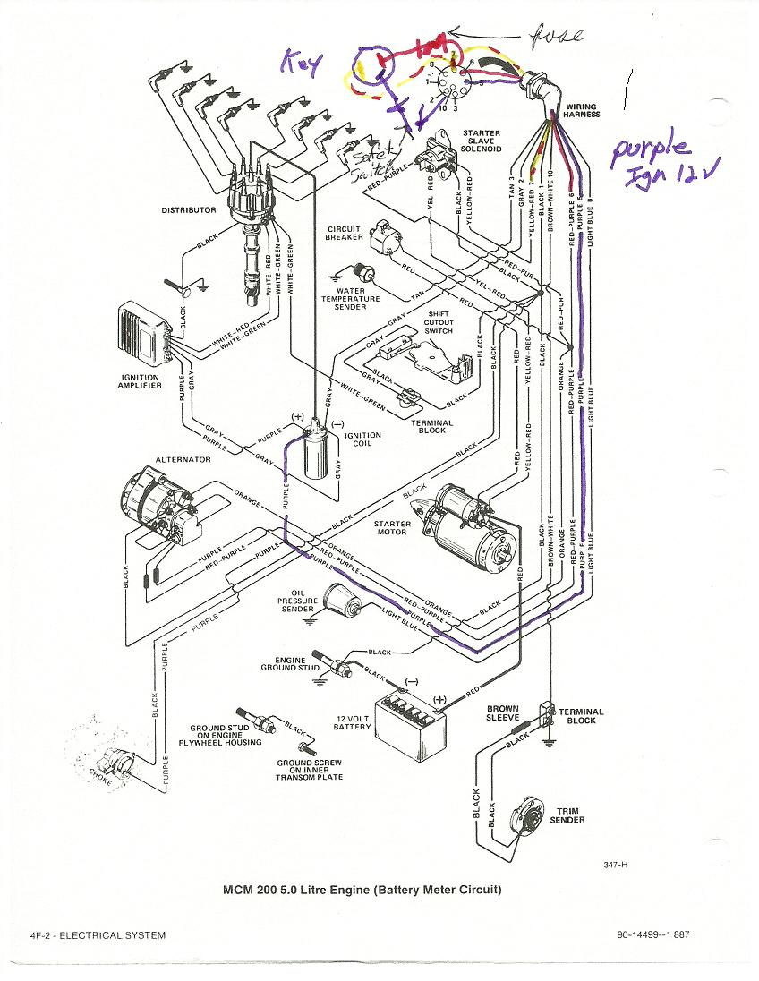 1988 Sea Ray 4.3 Ignition Wiring Diagram