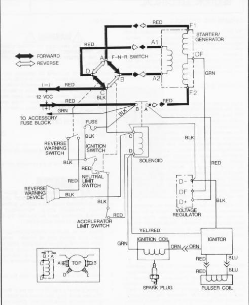 1989 Gas Marathon Gx444 2-cycle 12v Wiring Diagram