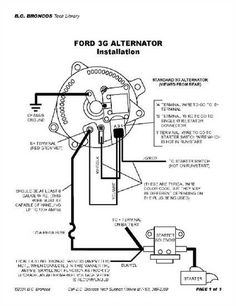 1991 F350 Ford External Voltage Regulator Wiring Diagram