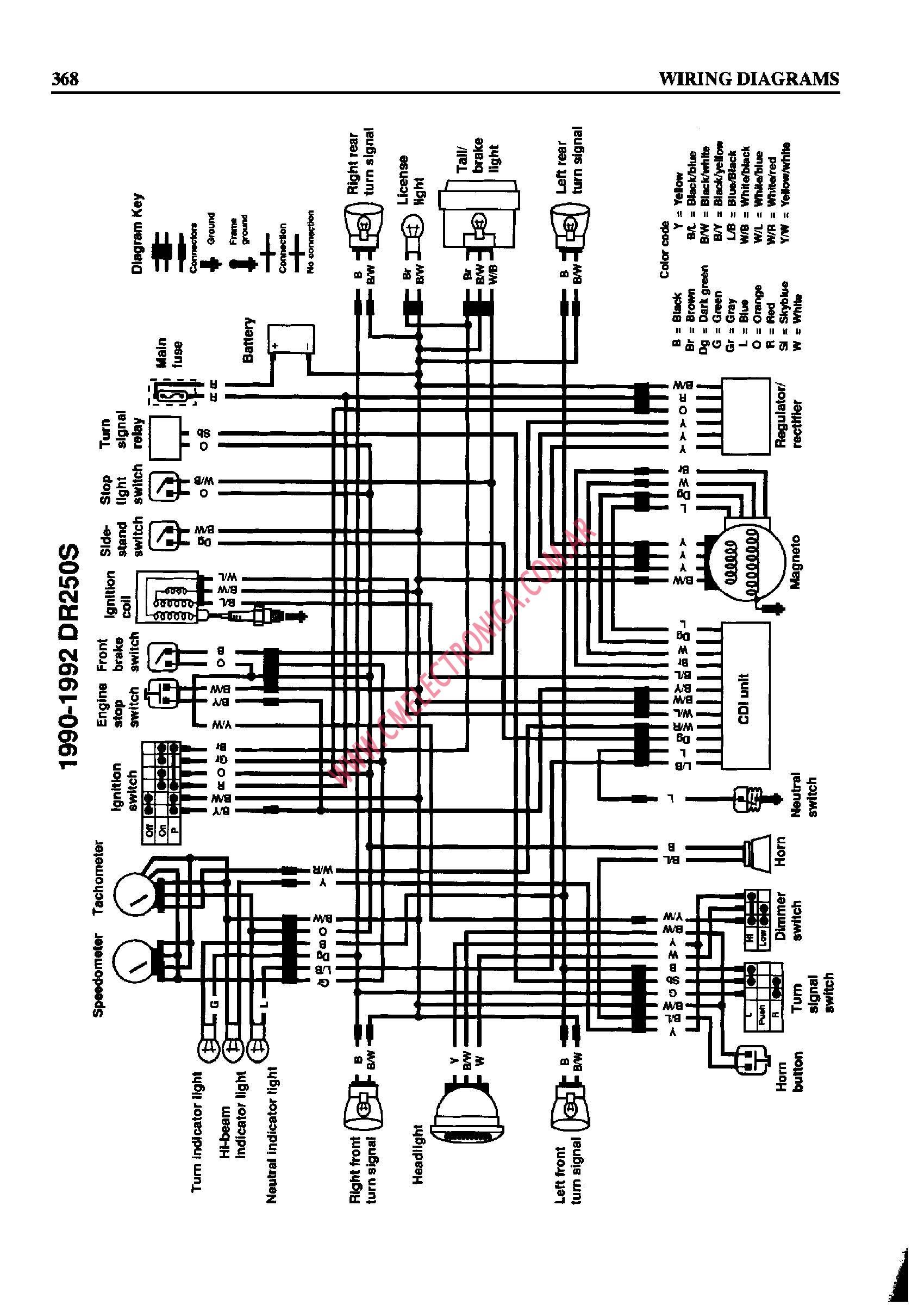 1995 Suzuki Dr350 Wiring Diagram