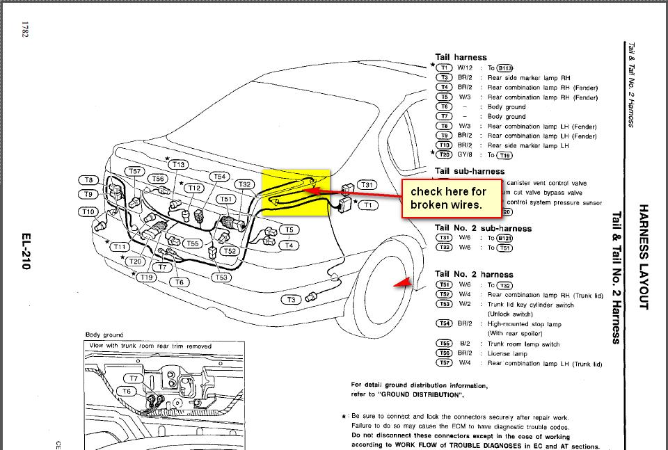 1999 Infiniti G20 Fuse Box Diagram