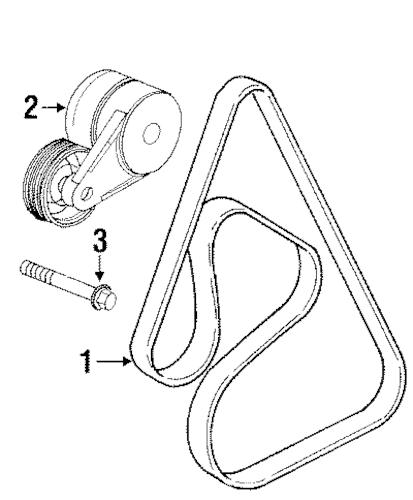 1999 Oldsmobile Intrigue Serpentine Belt Diagram