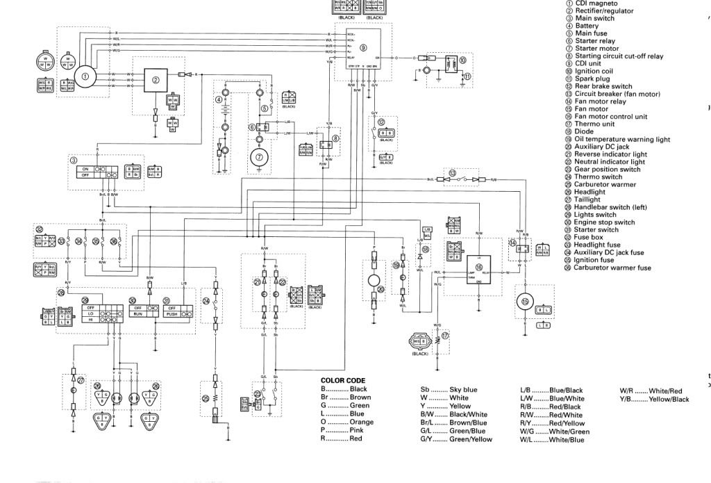 2000 Trx400ex Wiring Diagram