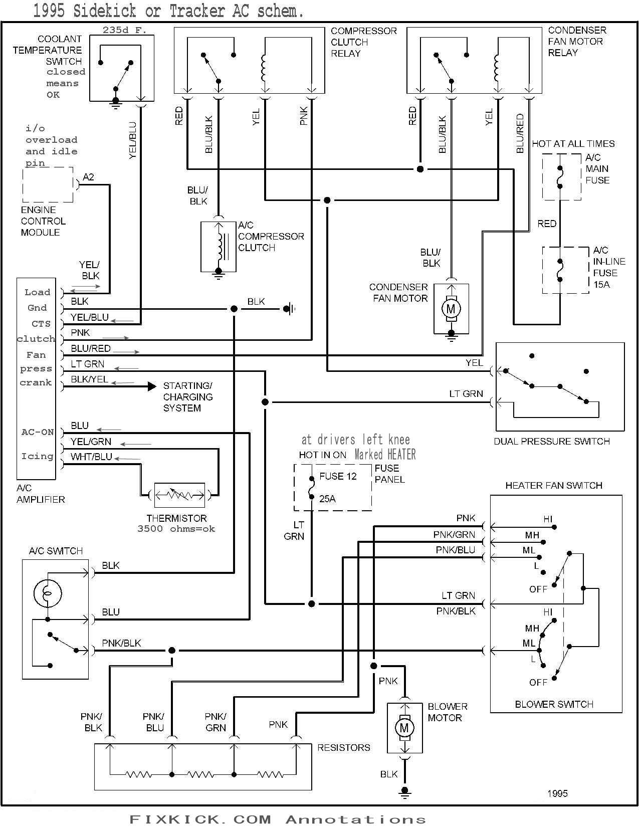 2002 Suzuki Grand Vitara Ac Compressor Wiring Diagram