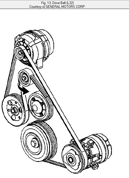 2003 Chevy Impala 3.8 Serpentine Belt Diagram