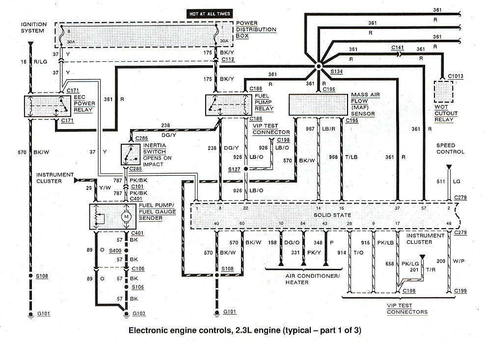 2003 Ford Ranger 3.0 Ignition System Wiring Diagram