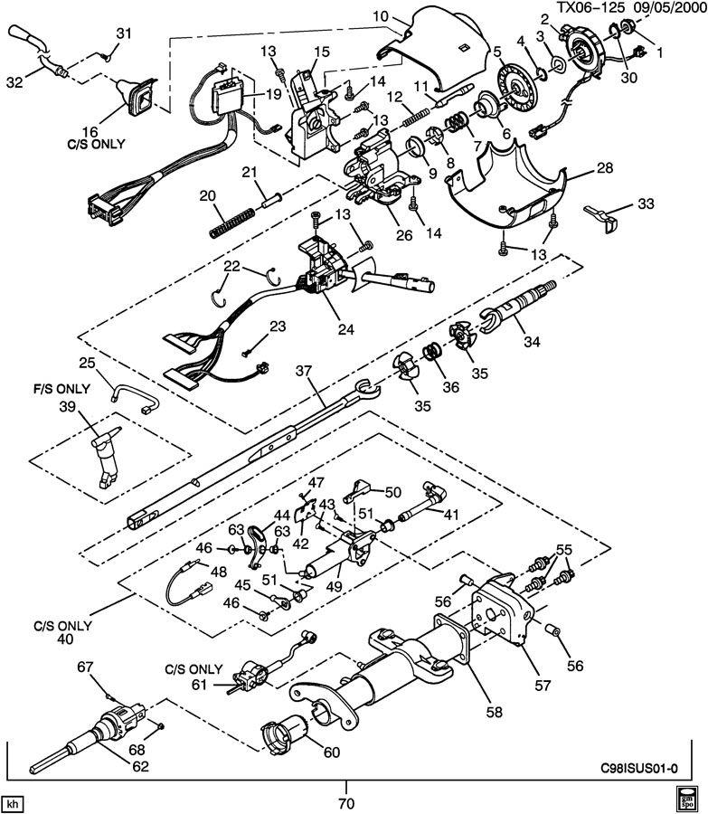 2003 Oldsmobile Silhouette Wiring Diagram Steering Column