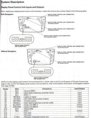 2004 Acura Mdx Radio Factory Wiring Diagram Key1