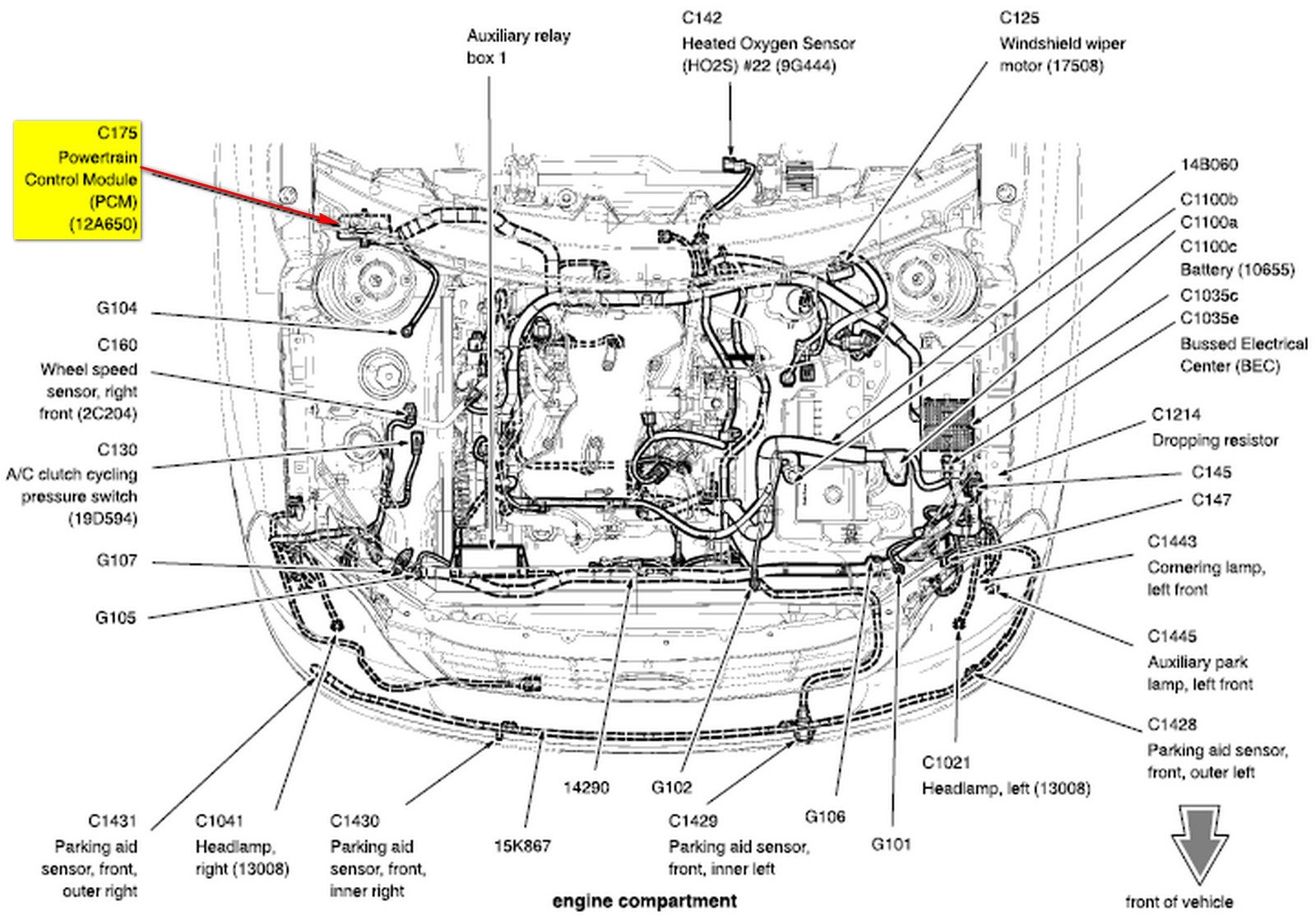 2005 Ford Freestar 3.9 L Engine Wiring Diagram