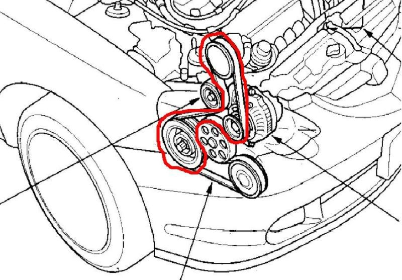 2005 Honda Crv Serpentine Belt Diagram