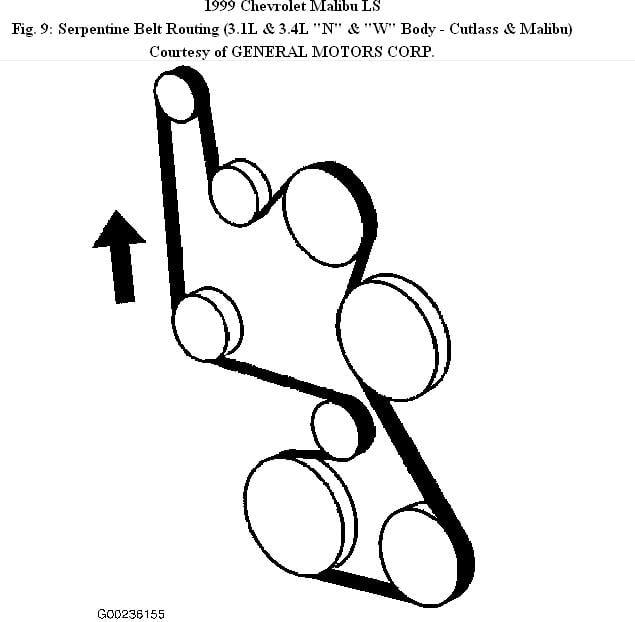 2013 Chevy Malibu Serpentine Belt Diagram