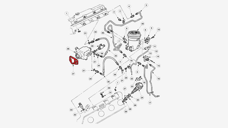 7.3 Power Steering Hose Diagram