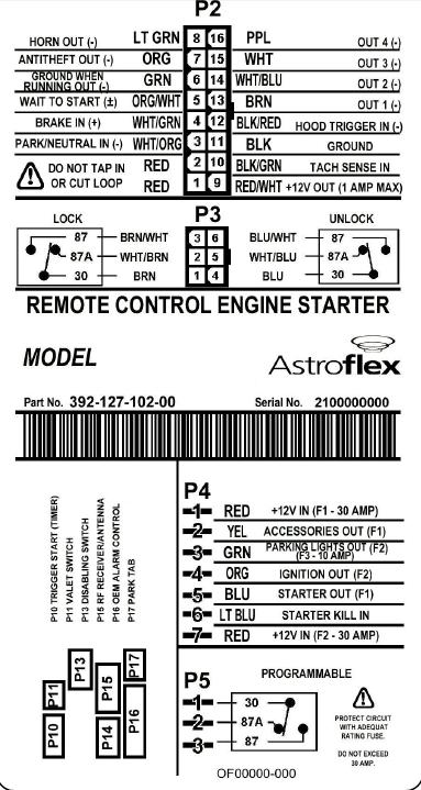 Astroflex Wiring Diagram