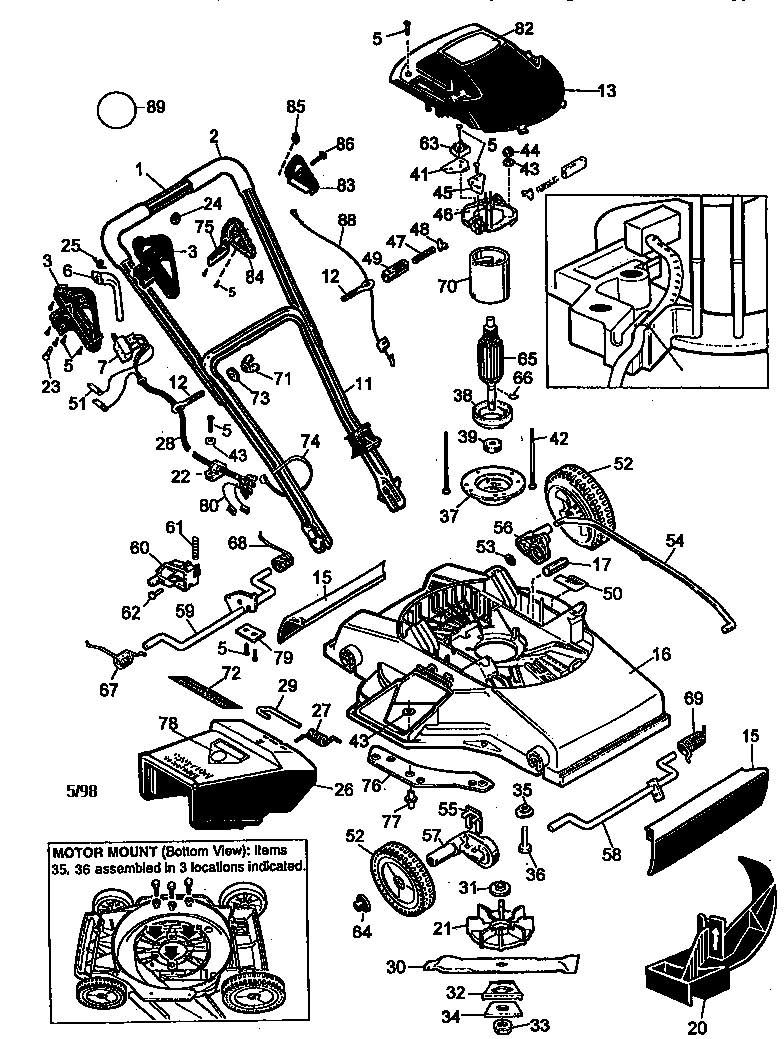 Black And Decker Electric Lawn Mower Wiring Diagram
