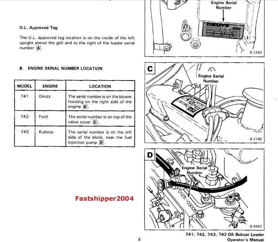 Bobcat 743 Parts Diagram