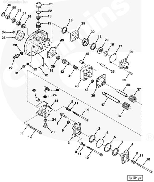 Cummins N14 Fuel Pump Diagram