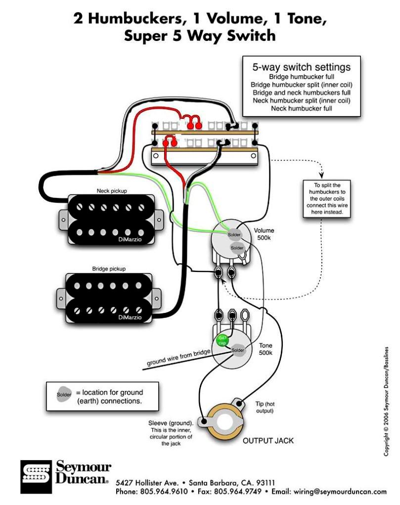 Dimarzio Blaze Wiring Diagram One Volume