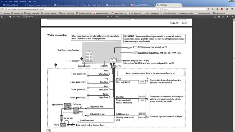 medium resolution of kenwood dnx710ex stereo wiring diagram