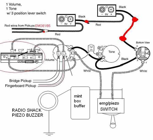 Emg Wiring Diagram 1 Volume 1 Tone 1switch