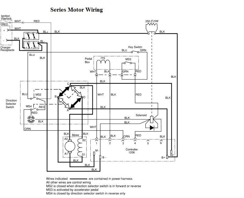 Ezgo Txt And Curtis 1206 Wiring Diagram
