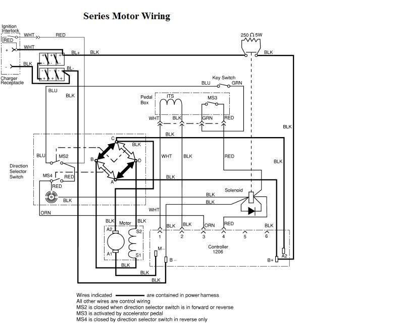 Ezgo Txt And Curtis 1206 Wiring Diagram
