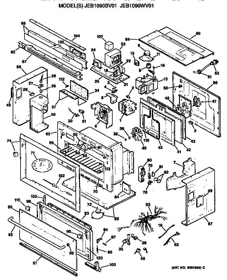 Ge Profile Microwave Jvm1190by Wiring Diagram