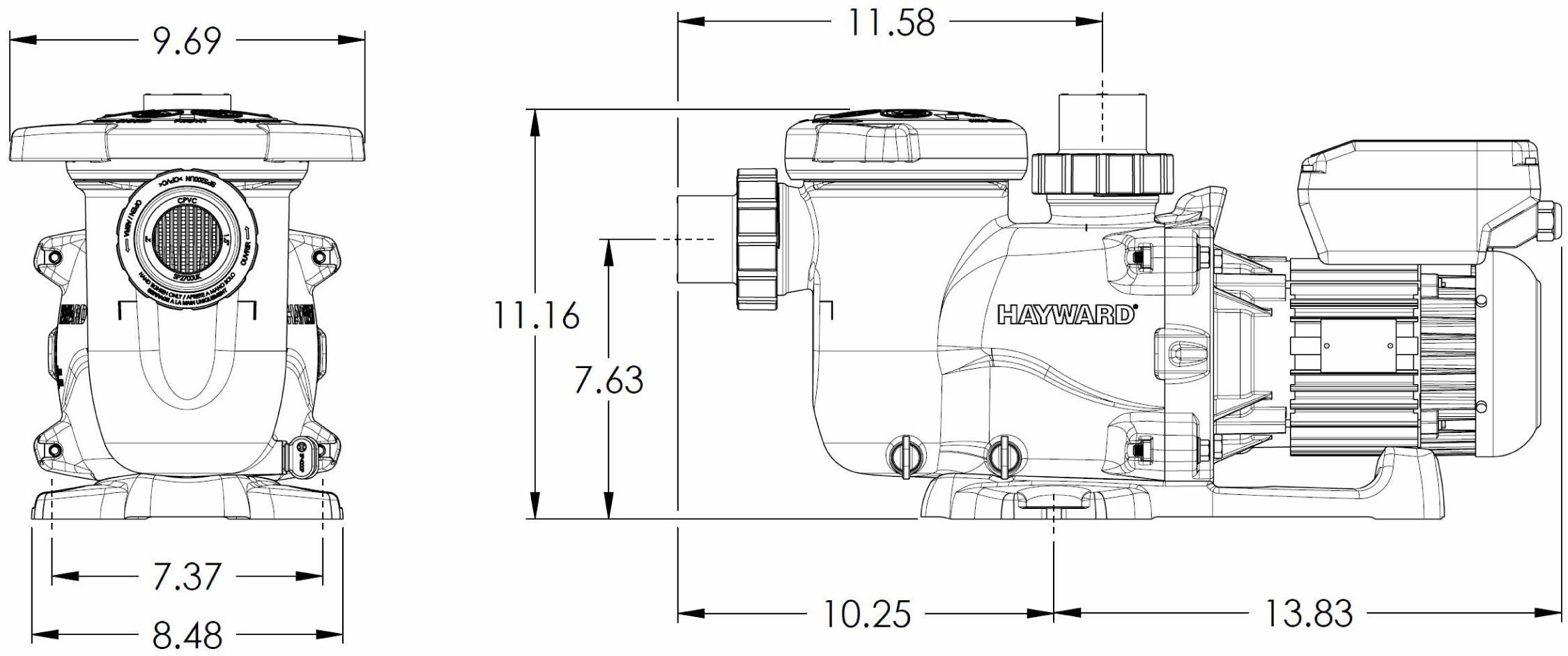 Hayward Swimming Pump 3400vsp Ecostar Variable Speed Pump