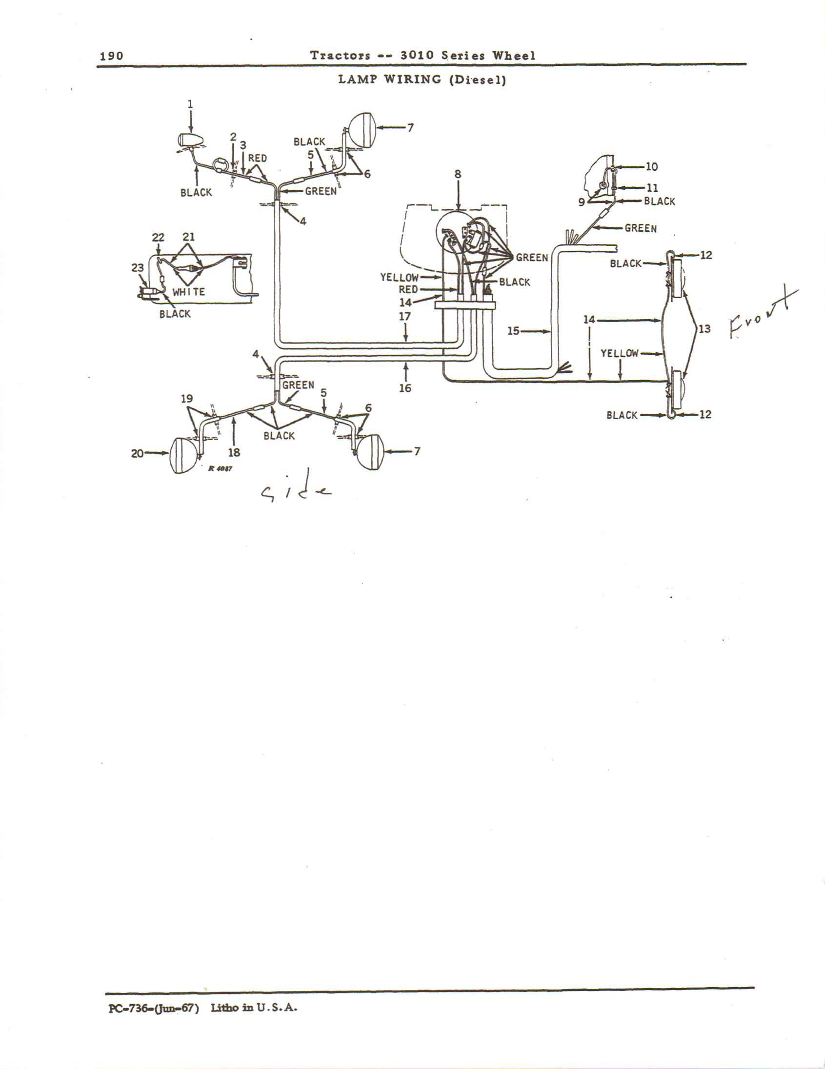 john deere 3010 24 volt wiring diagram