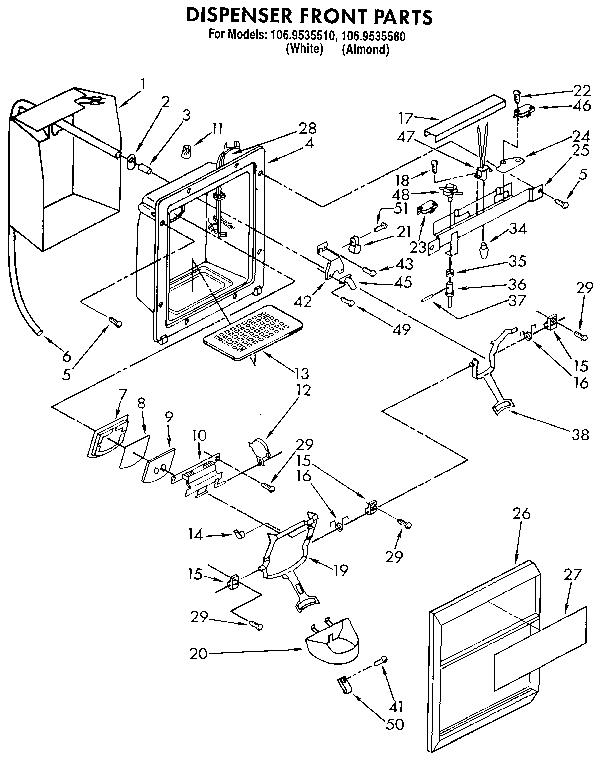 Kenmore 1069535580 Refrigerator Wiring Diagram