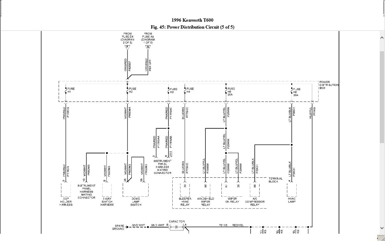 Kenworth T600 Wiring Diagrams