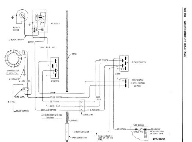 Laminated 1972 Chevelle Wiring Diagram