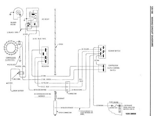 Laminated 1972 Chevelle Wiring Diagram