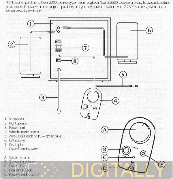Wiring Diagram Logitech Sub To Sound Bar
