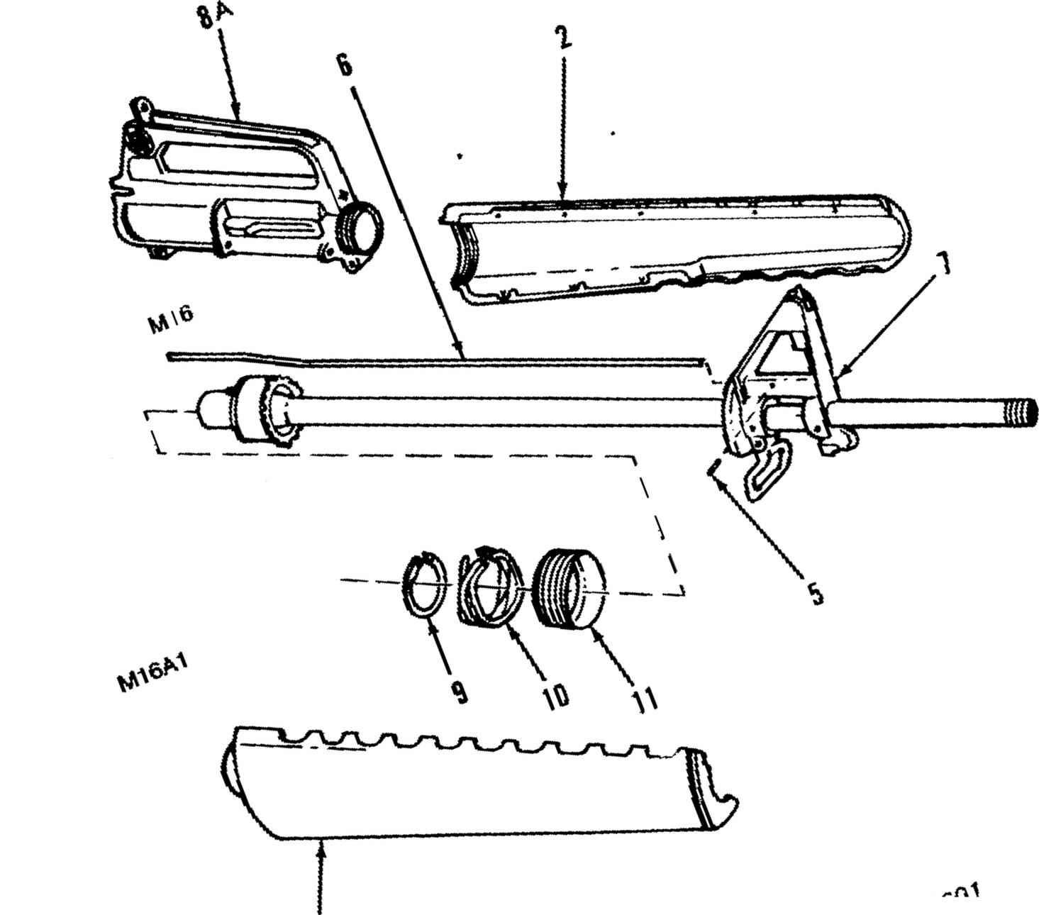 M16a1 Diagram
