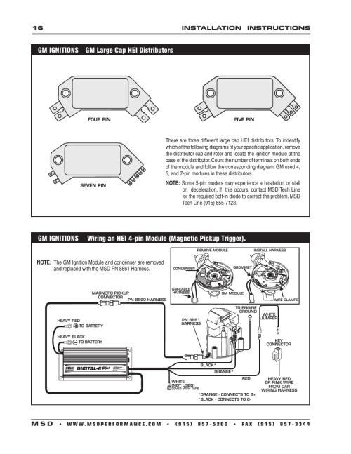 small resolution of chevy msd 6al hei wiring diagram msd al to hei distributor wiring diagram on msd 6al